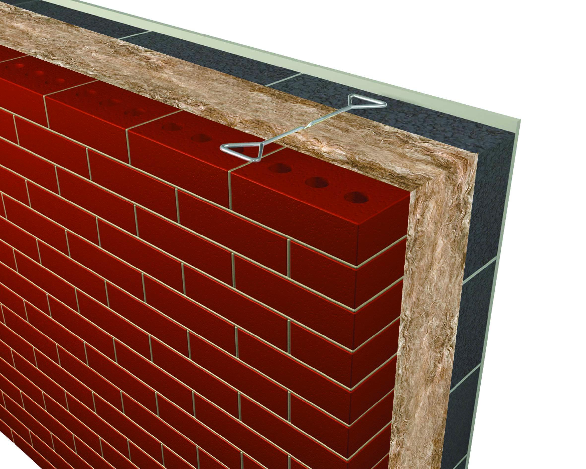 Masonry Wall Insulation : Earthwool glasswool dritherm cavity wall slab