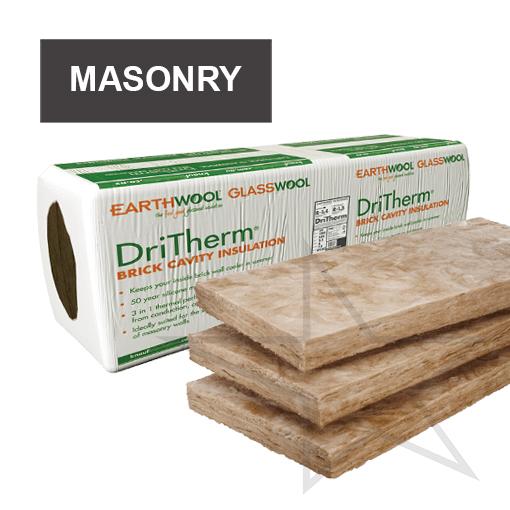 Knauf Earthwool DriTherm Masonry Wall Insulation