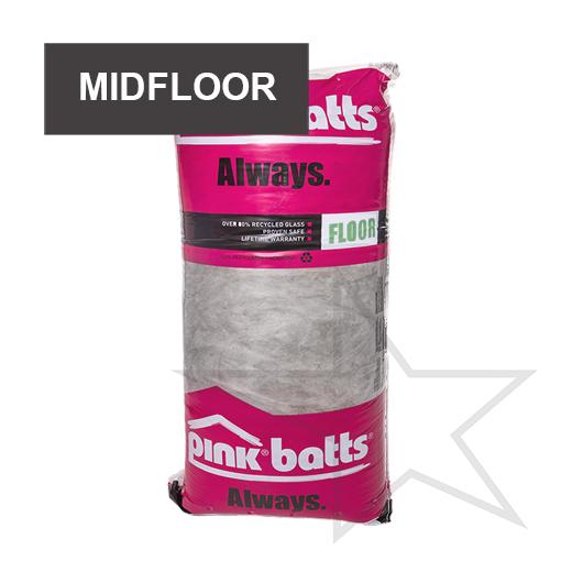 Pink Batts Silencer Midfloor Acoustic Insulation Batts